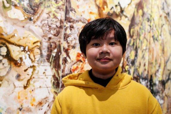 هنرمند 12 ساله ای که با جکسون پولاک مقایسه می شود!