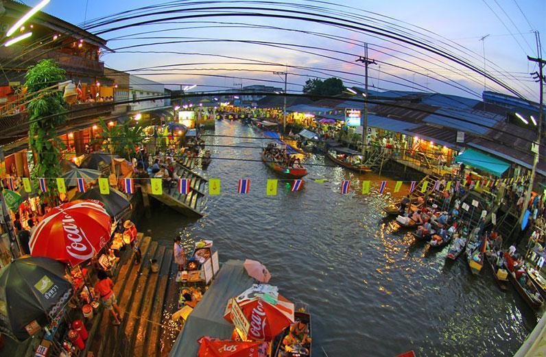 آشنایی با بازارهای آبی بانکوک