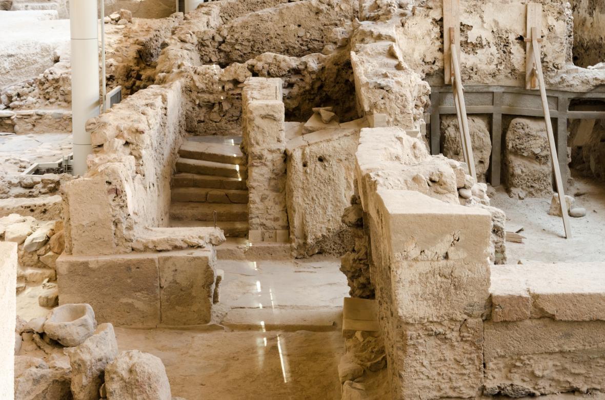 سایت باستانی آکروتیری در یونان