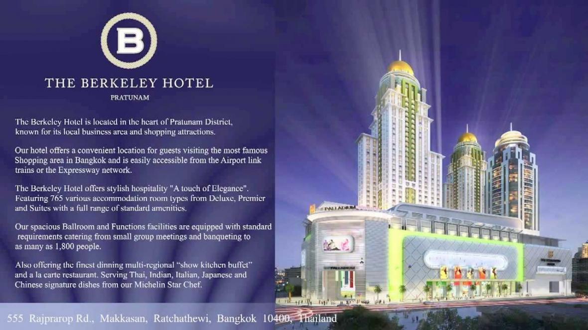 هتل 5 ستاره برکلی پراتونم بانکوک