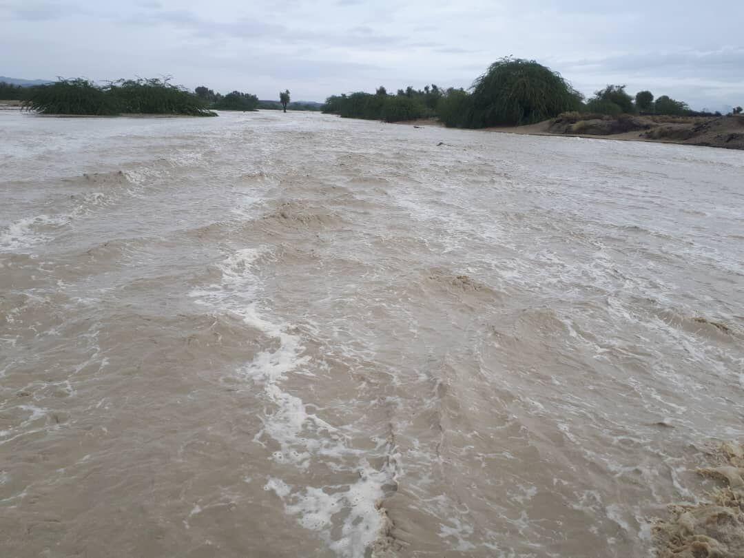 خبرنگاران طغیان رودخانه های فصلی راستا بشاگرد به جاسک را بست