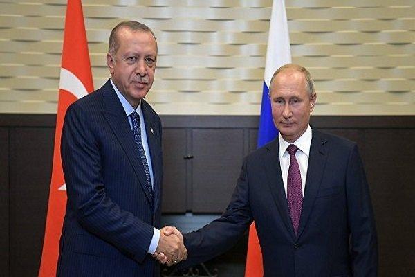 پوتین و اردوغان درباره سوریه و قره باغ مصاحبه کردند
