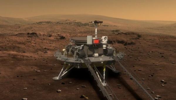 مریخ نورد چینی آماده فرود می گردد