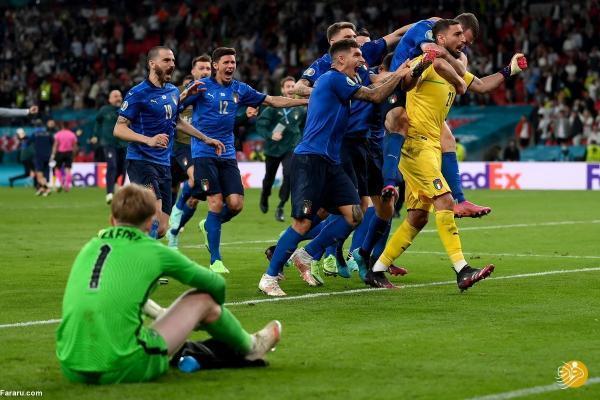 (ویدیو) خلاصه بازی ایتالیا 1 (3) - (2) 1 انگلیس؛ قهرمانی آتزوری