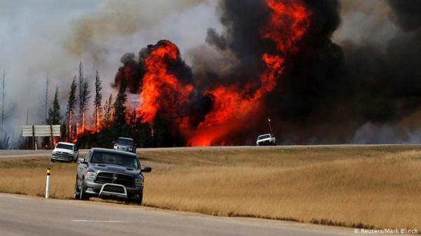 پشتیبانی ارتش کانادا برای مقابله با آتش سوزی
