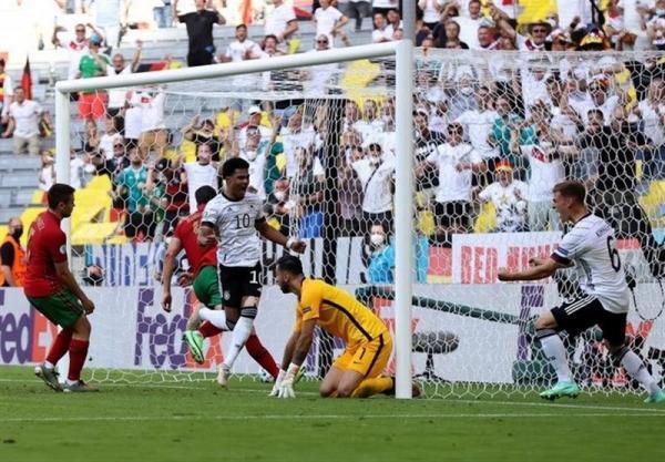 یورو 2020، پیروزی آلمان مقابل پرتغال در سرانجام نیمه نخست، رونالدو یک گل دیگر به دایی نزدیک شد
