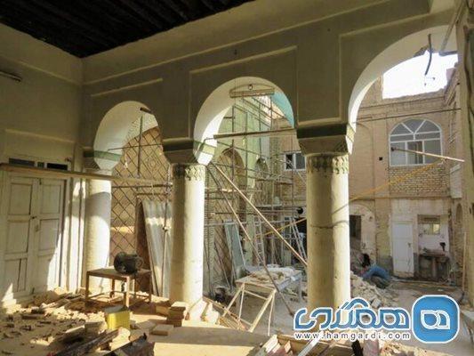 بازسازی ویلا: آغاز بازسازی بنای تاریخی زاهدی در شوشتر